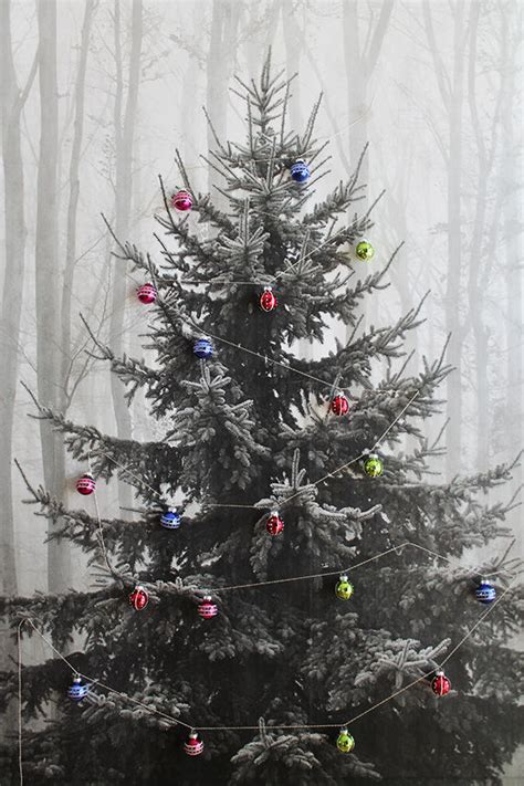 festive holiday tree posters makeshift christmas tree