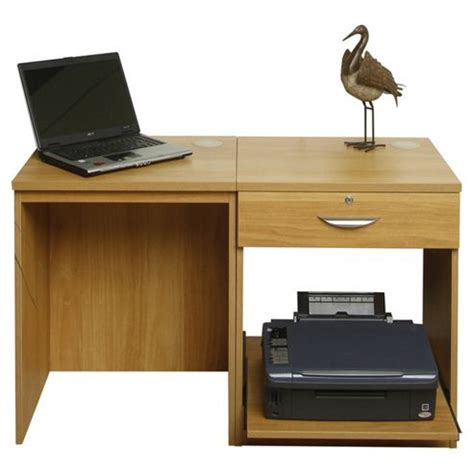 desk with printer storage buy enduro wooden home office desk workstation with drawer and printer storage from our office