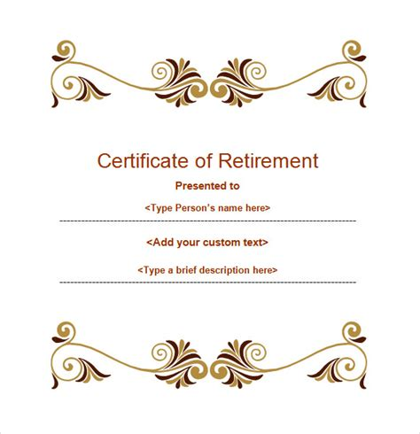 retirement certificate template retirement certificate template 7 documents in