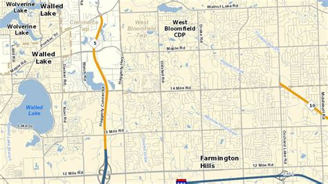 mdot construction map southbound m 5 is closed between 12 mile maple roads for
