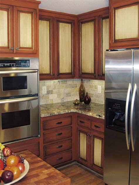 painted wood kitchen cabinets home dzine kitchen paint kitchen cabinets in two tone
