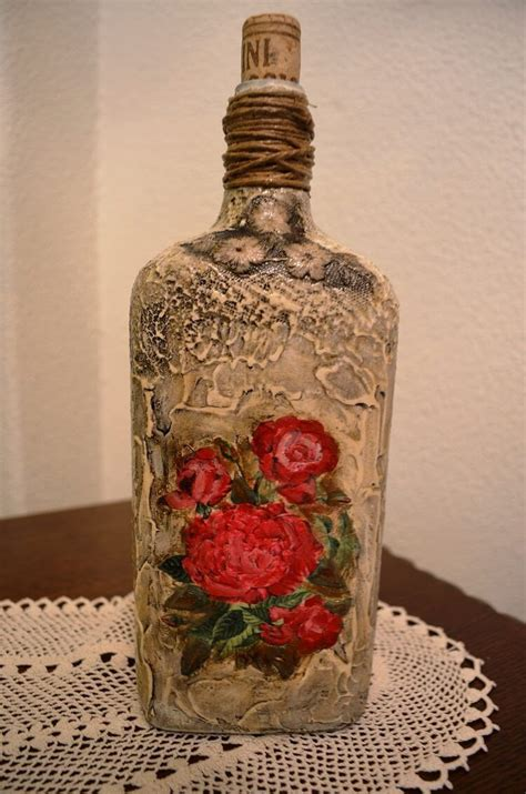 Decoupage Photos On Glass - how to decoupage on glass bottle with pizzi goffre