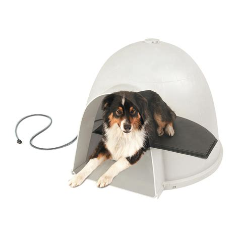 igloo style dog house amazon com k h lectro kennel igloo style heated pad large pet beds pet supplies