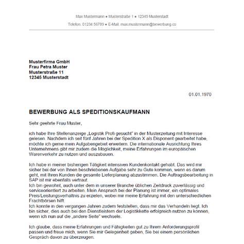 Bewerbung Ausbildung Speditionskaufmann Vorlage Bewerbung Als Speditionskaufmann Speditionskauffrau Bewerbung Co