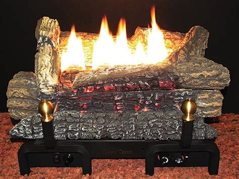 buck stove 18quot pine log series ventfree natural gas log