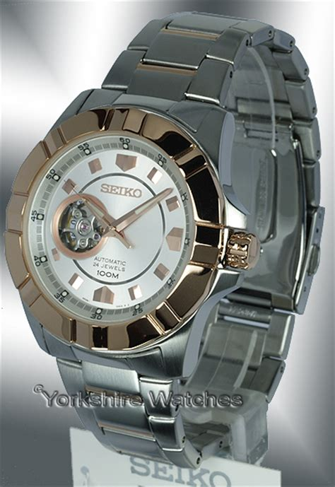 Seiko Lord Ssa074k1 Seiko Lord Skeleton Automatic Two Tone Stainless Steel