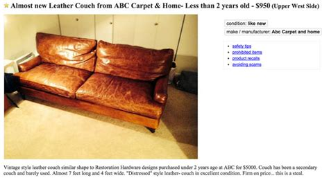 Craigslist Ny Sofa 28 Images Pottery Barn Charleston
