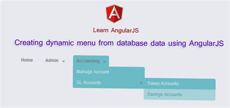 dynamic menu layout cshtml creating dynamic menu from database data using angularjs