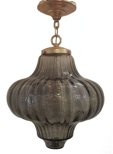 Glass Blown Light Fixtures Blown Glass Light Fixture For Sale At 1stdibs