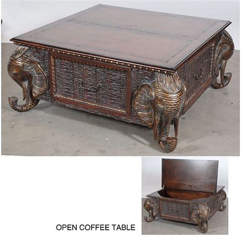 Elephant Glass Coffee Table Elephant Coffee Table Coffee Table