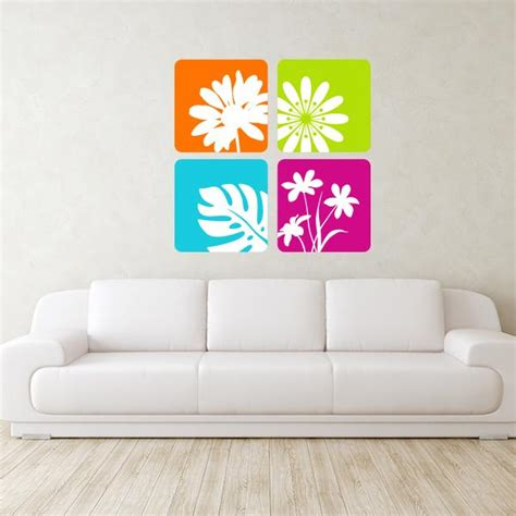flowers wall stickers framed various flowers wall decals wall decal world