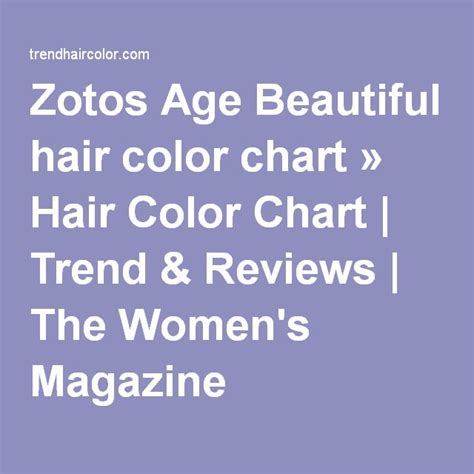 age beautiful color chart 25 best ideas about hair color charts on