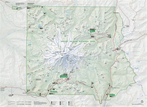 mt rainier national park map mount rainier maps npmaps just free maps period