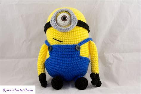 minion crochet bobs and the minions on pinterest crochet minion doll by karenscrochetcorner on deviantart
