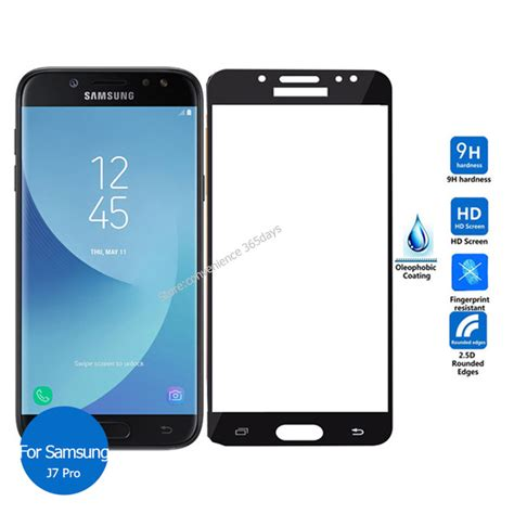 Tempered Glass Warna Color Samsung J7 J7 Plus Anti Gores Kaca for samsung galaxy j7 pro cover tempered glass screen protector 2 5 9h all safety