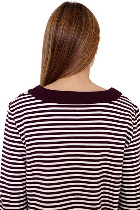 Tree Collar Top Diskon tree norah sleeve stripe collar top