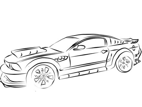 coloring pages cars mustang cool car coloring pages az coloring pages