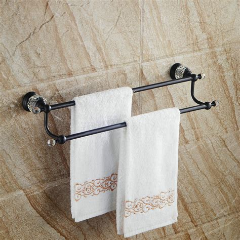 black towel racks bathroom solid brass towel rack rack black towel bar