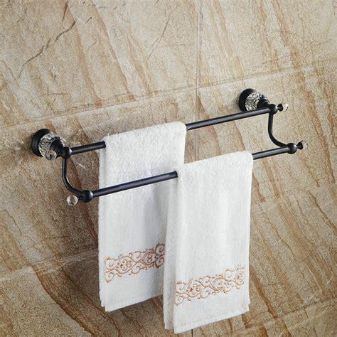 Black Bathroom Towel Bar Solid Brass Towel Rack Rack Black Towel Bar Bathroom Bathroom Accesseries Wall Mounted