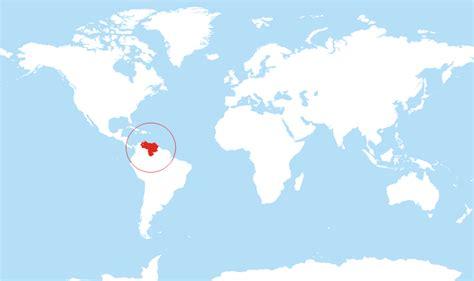 venezuela located   world map