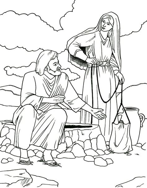 coloring page water well 38 best images about woman at the well on pinterest