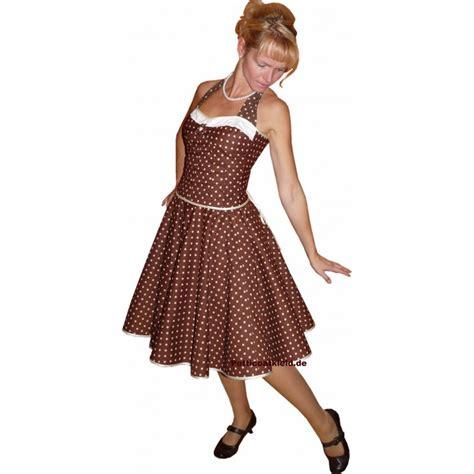 Swing Kleid Punkte by Kleid Zum Petticoat Swing Braun Ganz Kleine Wei 223 E Punkte Tanz