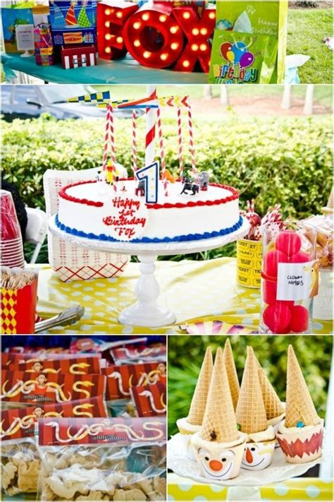 circus themed boys  birthday party spaceships  laser beams