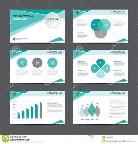 presentation layout graphic design business presentation template design stock vector