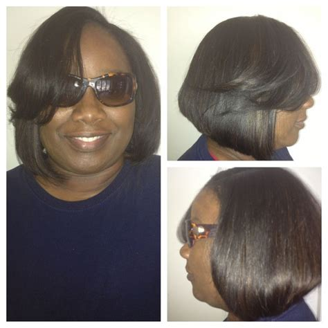 sew in with minimal leave out gorgeoushaiir pinterest full sew in minimal leave out bob luxe lengths richmond