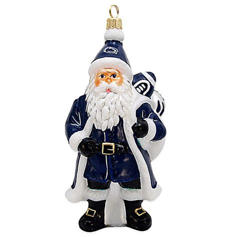 psu annual christmas ornaments penn state santa ornament bed bath beyond