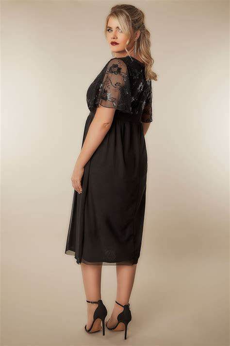 Big Lots Background Check Black Mesh Midi Dress With Sequin Embellishment Plus Size