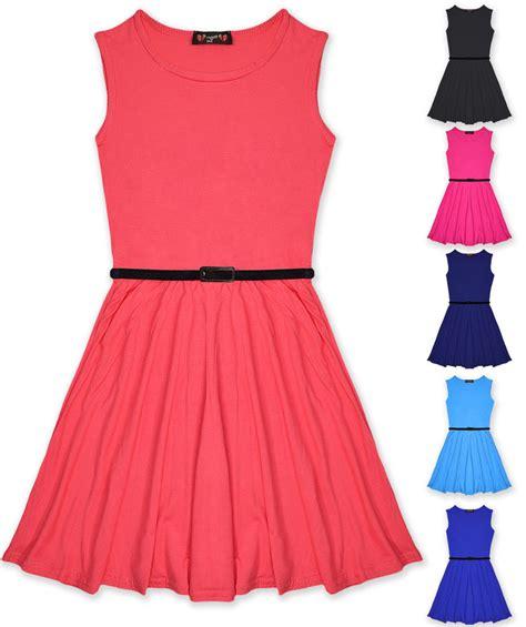 Dress Seven skater dress dresses belted new age 7 8 9 10 11 12 13 years ebay