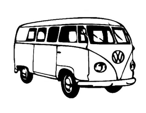 volkswagen van with surfboard clipart cer clipart kombi pencil and in color cer clipart