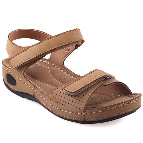 Comfortable Sandals For by Unze Womens Nuty Comfortable Walking Sandals Uk Size 3 8 Beige