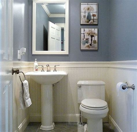 half bath with 2 tone paint for the home pinterest 25 best ideas about small half bathrooms on pinterest