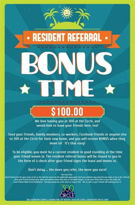 300atc Resident Referral Flyer Property Management Pinterest Resident Retention Leasing Flyer Templates