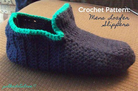 s crochet slippers free patterns polka dots crochet pattern mens loafer slippers