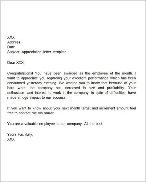 letter of appreciation for work sles thank you letters for appreciation 24 exles in pdf word