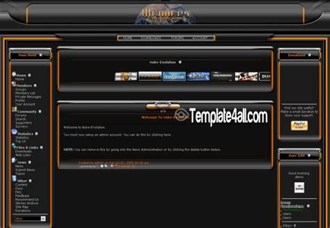 all black themes download orange abstract black phpnuke theme download
