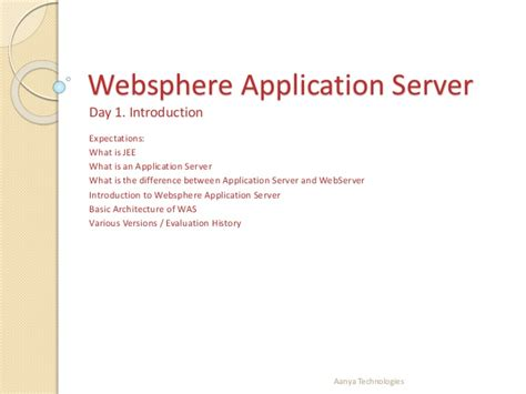 tutorial web service websphere ibm websphere introduction and installation for beginners