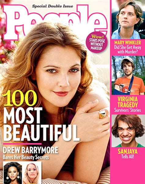 Drew Barrymore Looking Pretty On The Cover Of Janes March Issue by Magazine S Most Beautiful In The World A