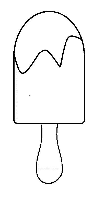 popsicle template popsicle clipart black and white pencil and in color