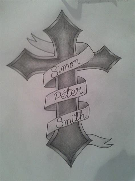 tattoo design cross banner by princessjade88 on deviantart
