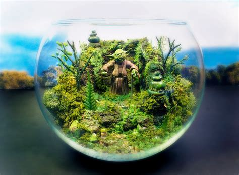 Office Desk Terrarium Yoda Terrarium Office Desk Plants And Planters From