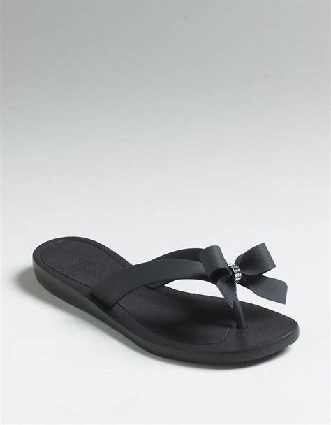 Sandals Flip Flops Guess guess tutu flip flop sandals in black lyst