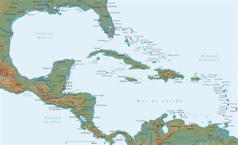imagenes satelitales mar caribe mapa do caribe ilhas e regi 227 o da am 233 rica central