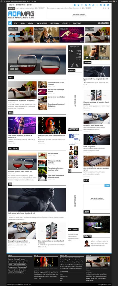 newspaper theme help adamag news magazine wordpress theme themes templates