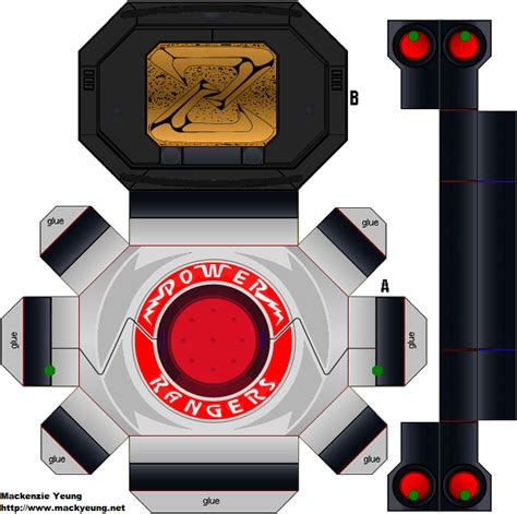How To Make A Paper Power Ranger Morpher - power rangers power morpher by 80sguy deviantart on