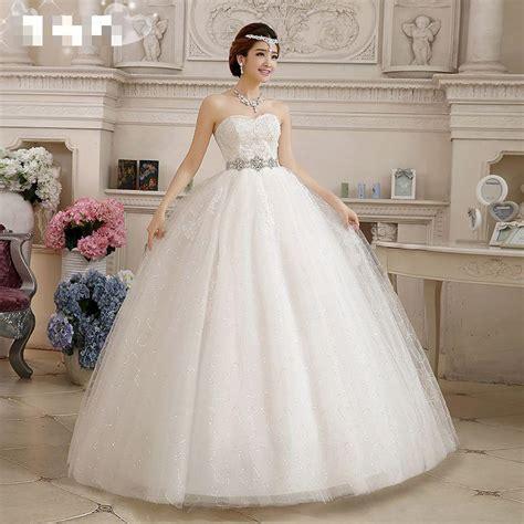 Hs246 Putih Gaun Pernikahan 2017 Wedding Dress Baju Pengantin Ballgown aliexpress buy 2016 new and summer the wedding dress for high waist