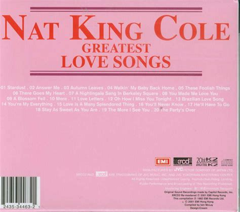 club cd nat king cole greatest love songs